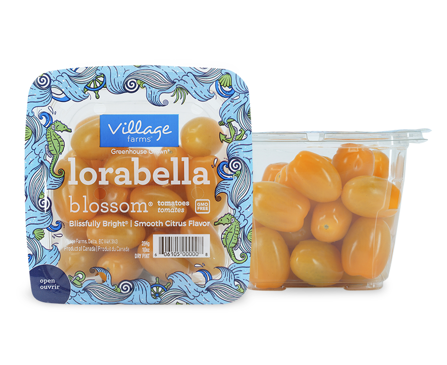 Lorabella Tomatoes in Top Seal package